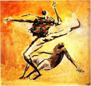 """Caribé. """"Capoeira"""". 1966"""